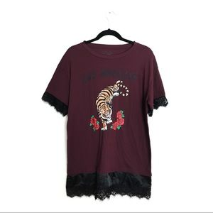 COLD CRUSH | OVERSIZED TIGER KING LA GRAPHIC TEE